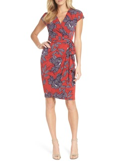 Maggy London Print Wrap Dress (Regular & Petite)