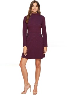 Maggy London Retro Jacquard Fit & Flare Dress