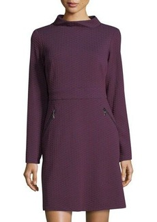 Maggy London Retro-Jacquard Fit-and-Flare Dress