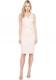 Maggy London Rose Garden Lace V-Neck Sheathe Dress