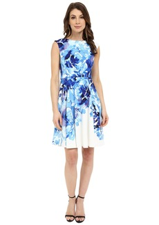 Maggy London Rosey Peony Printed Scuba Fit and Flare