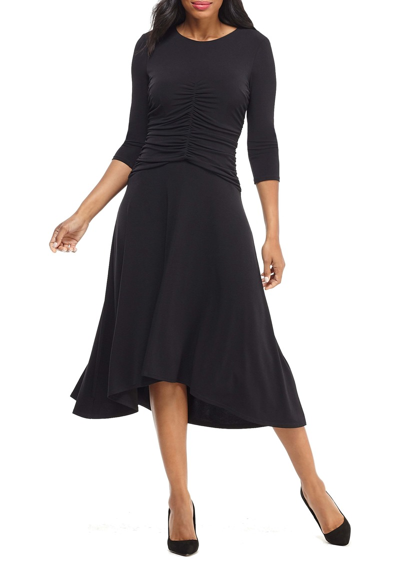 Maggy London Ruched Jersey Midi Dress