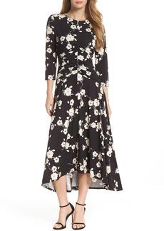 Maggy London Ruched Waist Midi Dress