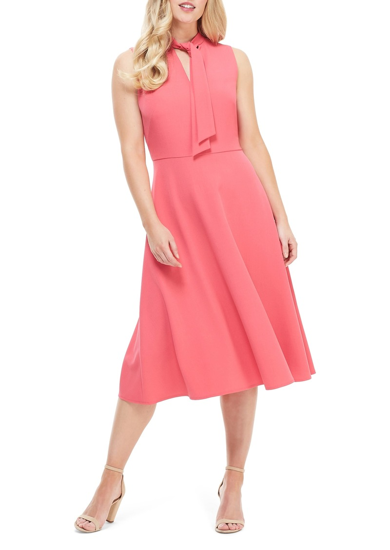 Maggy London Ruthie Tie Neck Crepe Dress (Regular & Petite)