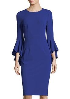 Maggy London Sasha Crepe Bell-Sleeve Cocktail Dress