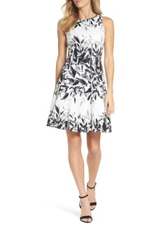 Maggy London Sateen Fit & Flare Dress (Regular & Petite)