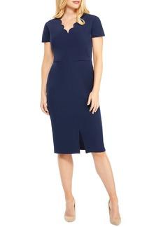 Maggy London Scallop Sheath Dress