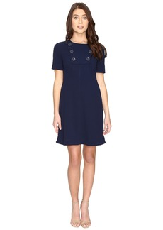Maggy London Scuba Crepe Elbow Sleeve Fit and Flare Dress
