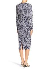 Maggy London Seamed Scroll Knit Midi Dress