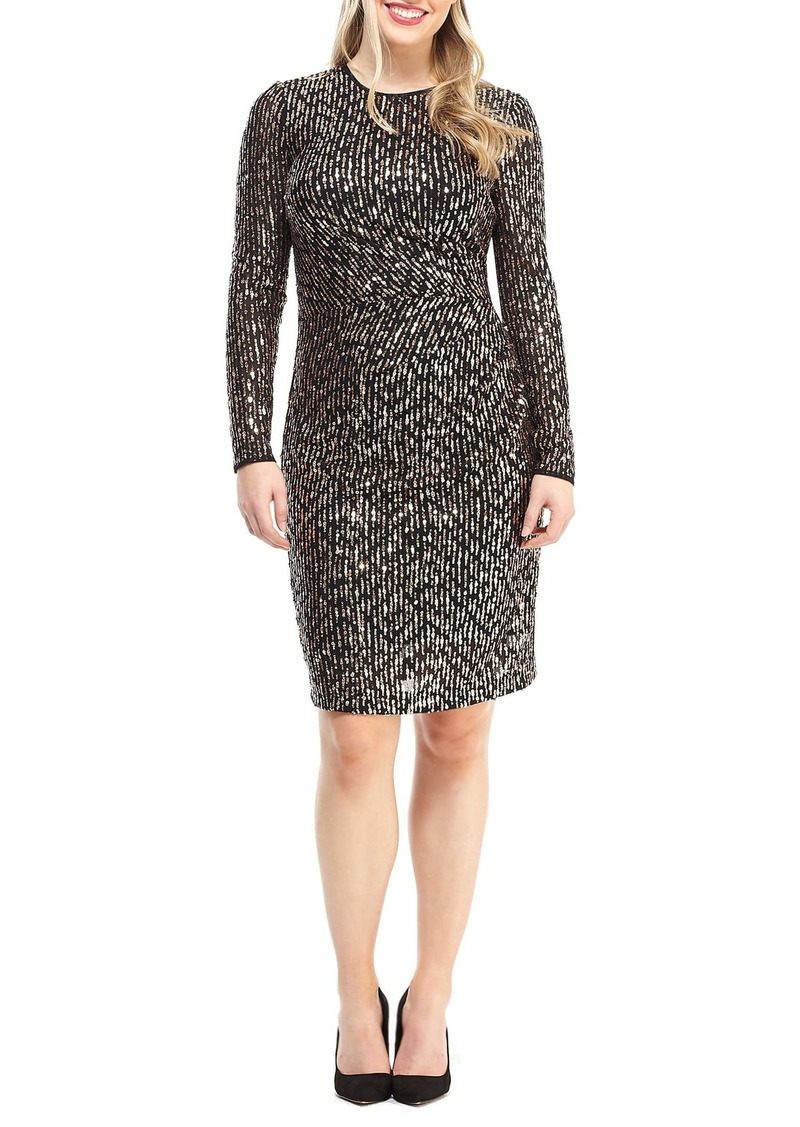 Maggy London Sequin Long Sleeve Dress