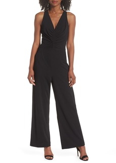 Maggy London Shirred Crepe Jumpsuit