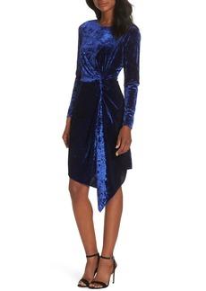 Maggy London Side Drape Velvet Dress (Regular & Petite)