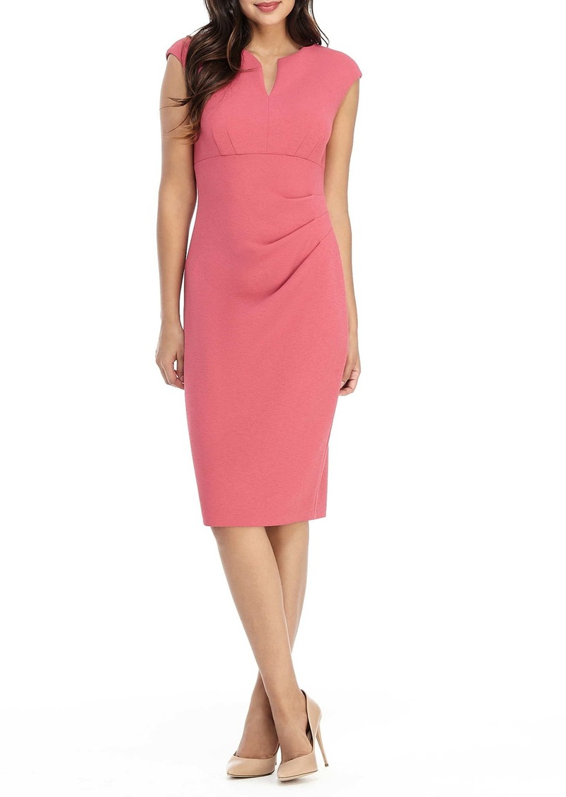 Maggy London Side Pleat Sheath Dress