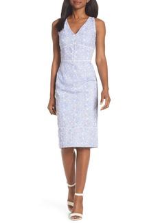 Maggy London Sleeveless Embroidered Sheath Dress (Regular & Petite)