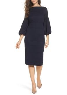 Maggy London Solid Herringbone Knit Dress