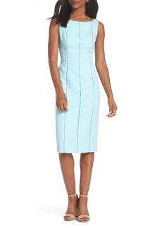 Maggy London Stretch Pique Sheath Dress