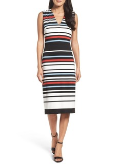 Maggy London Stripe Midi Dress