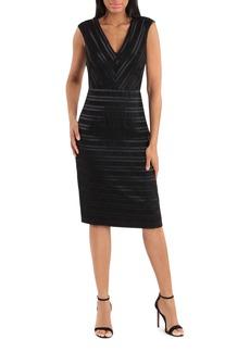 Maggy London Stripe Sleeveless Satin Dress