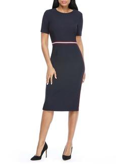 Maggy London Stripe Trim Sheath Dress