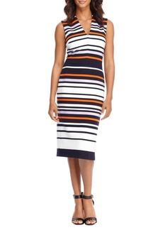 Maggy London Striped Sleeveless Dress