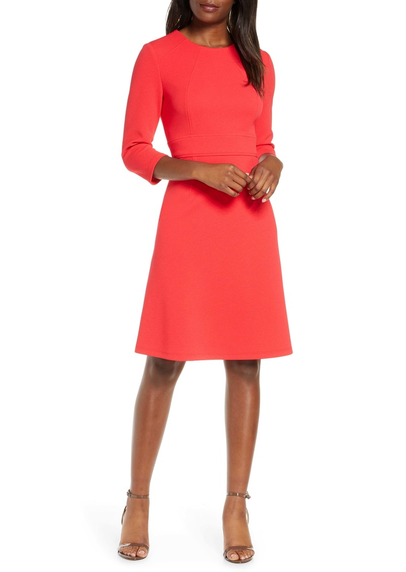 Maggy London Structured Seam A-Line Dress