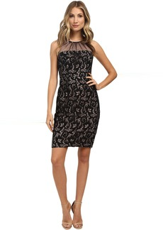 Maggy London Summer Scroll Sheath with Mesh Illusion