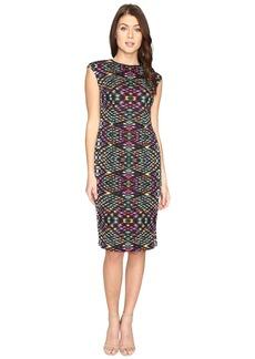 Maggy London Techno Puzzle Scuba Sheath Dress