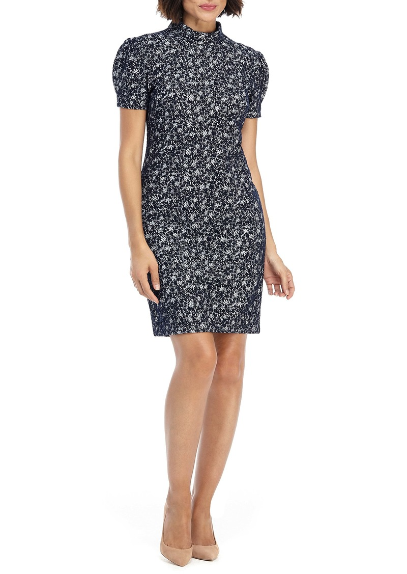 Maggy London Textured Floral Sheath Dress