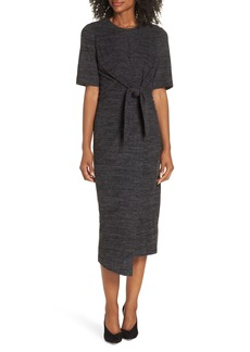 Maggy London Tie Front Midi Dress