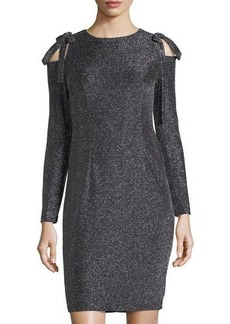 Maggy London Tied Cold-Shoulder Sheath Dress