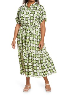 Maggy London Tiered Shirtdress (Plus Size)
