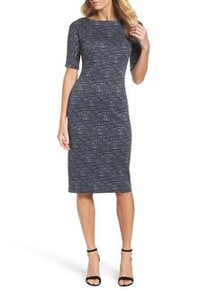 Maggy London Tweed Sheath Dress