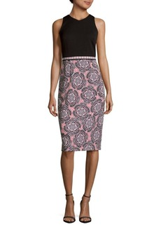 Maggy London Twin Etched Floral Dress