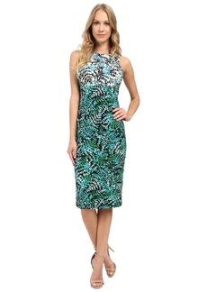 Maggy London Twin Fern Printed Jersey Sheath Dress