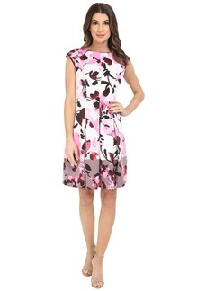Maggy London Twin Paintbrush Bud Scuba Fit and Flare Dress