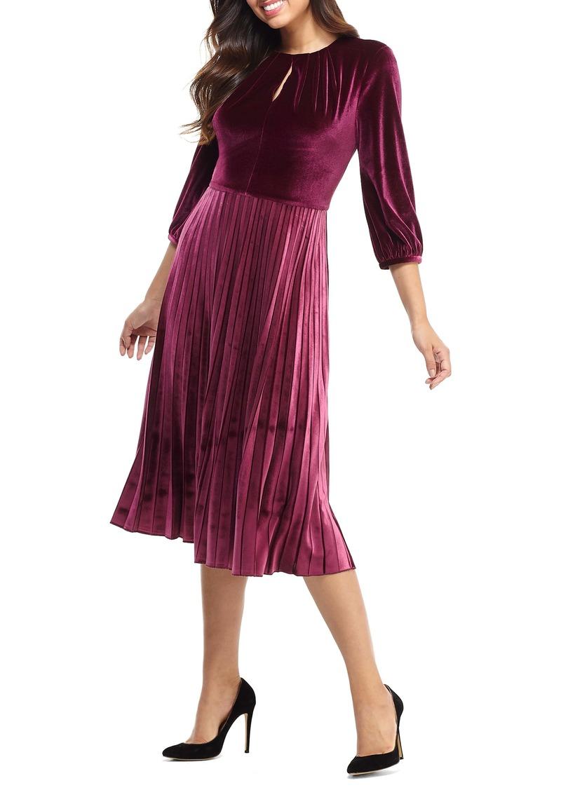 Maggy London Velvet Fit & Flare Dress