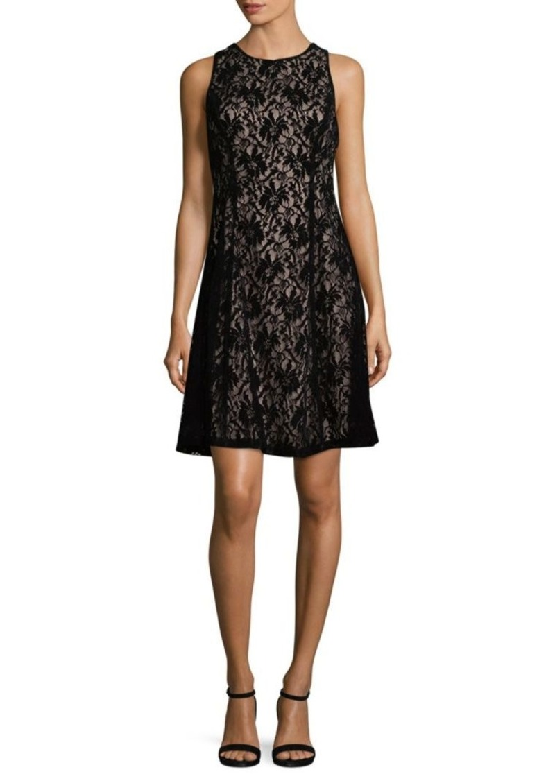 bf60cac6a93 Maggy London Velvet Lace Fit- -Flare Dress
