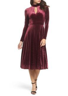 Maggy London Velvet Midi Dress