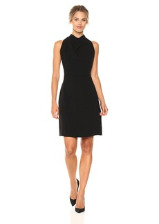 Maggy London Women's 30's Crepe Sleeveless Cocktail Dress with Back Detail