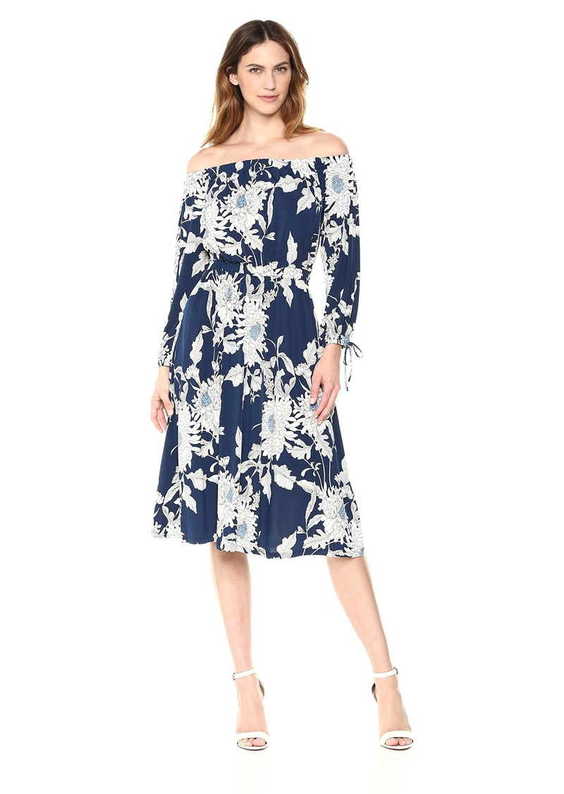 Maggy London Women's Artistic Line Jersey Off The Shoulder Dress