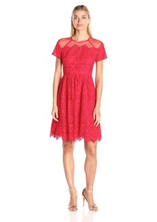 Maggy London Women's Bavarian Leaf Lace Fit and Flare