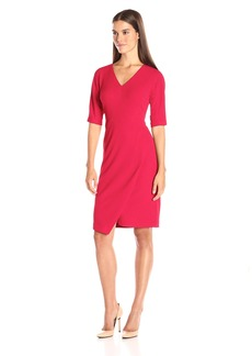 Maggy London Women's Casablanca Crepe Structured Sheath with Elbow Sleeve