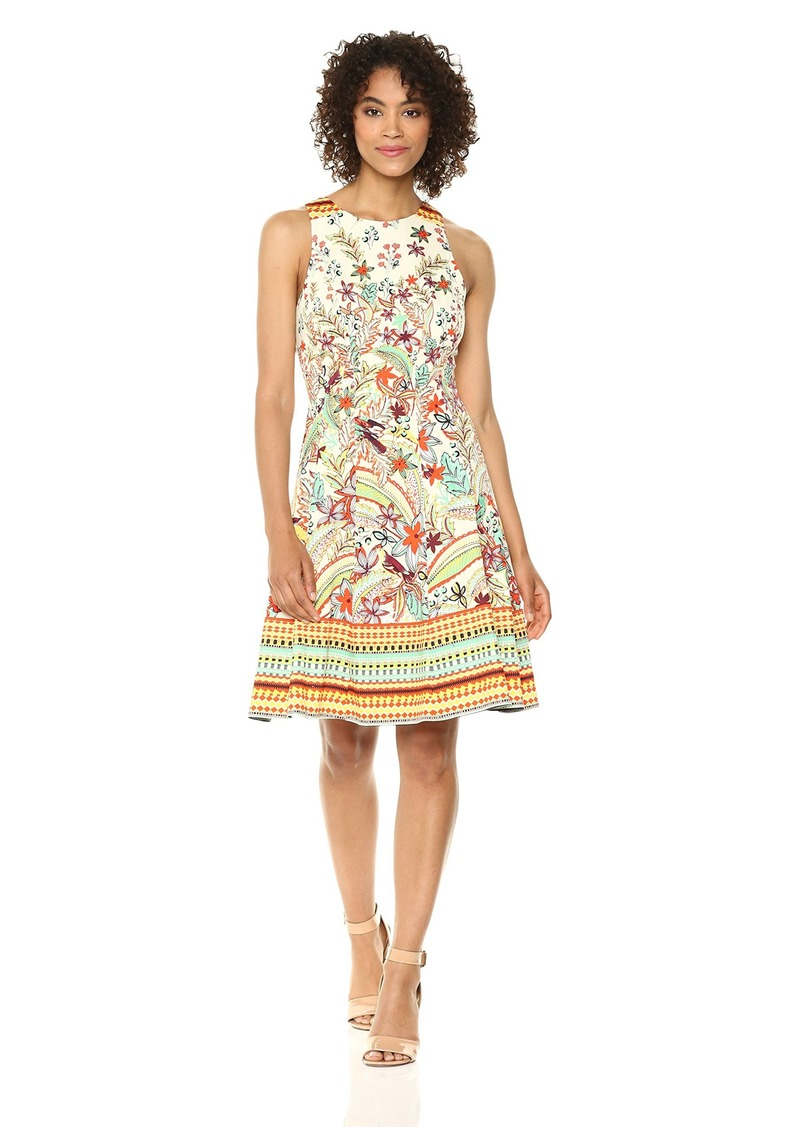 Maggy London Women's Cotton Fit and Flare Dress