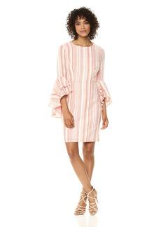 Maggy London Women's Cotton Stripe Novelty Dress