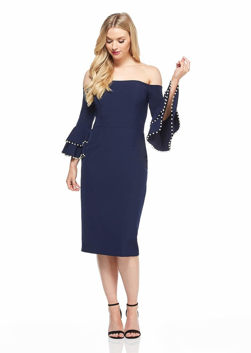 Maggy London Women's Crepe Embellished Cocktail Dress