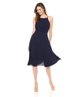 Maggy London Women's Crepe Smocked Pleated Sun Dress