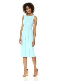 Maggy London Women's Diamond Pique Novelty Sheath Dress