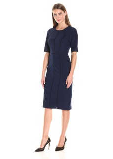 Maggy London Women's Dream Crepe Sheath with Elbow Sleeve