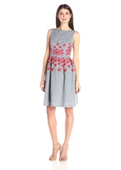 Maggy London Women's Embellished Fit and Flare