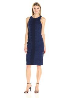Maggy London Women's Fan Leaf Lace Midi Dress